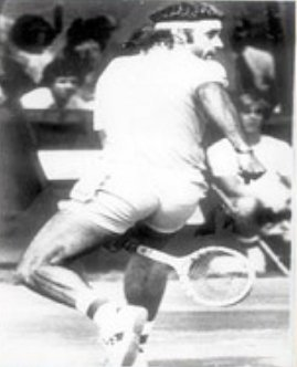 "Guillermo Vilas esegue il ""Gran Willy"""